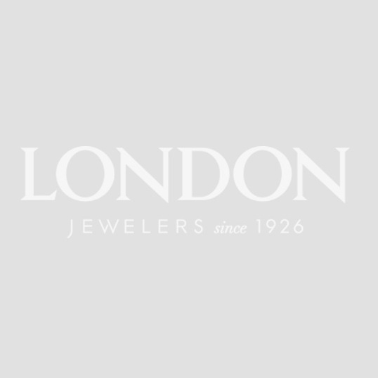 London Collection Gold Overlay & Sterling Silver Topaz Hoop Earrings