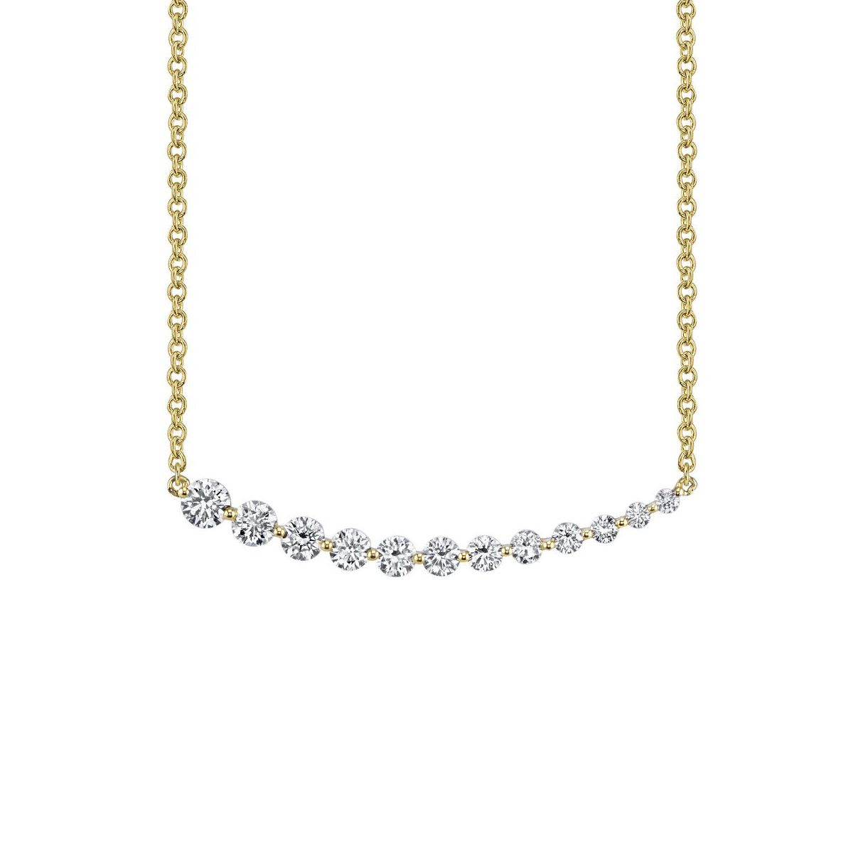jewelry_Anita Ko 18k Graduating Diamond Necklace